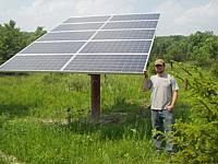 Pole mounted PV panels